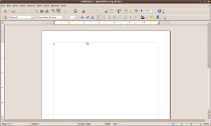 Empty OpenOffice Document